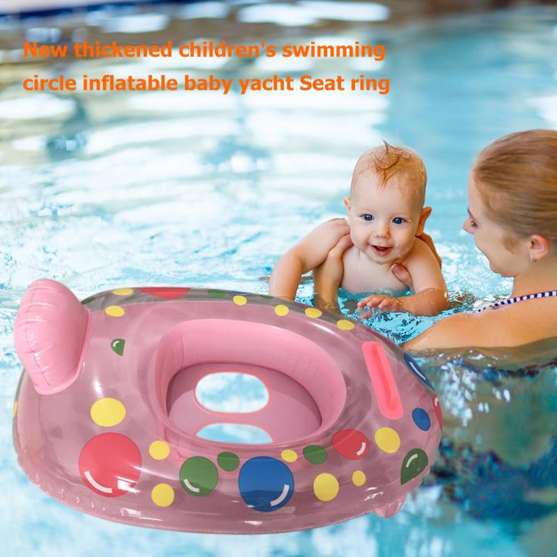 Portable Summer Baby Kids Cartoon Safety Swimming Ring Inflatable Swim Float Water Fun Pool Toys Swim Ring Seat Boat Water Sport