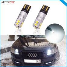 2 шт. T10 led w5w 194 168 лампа светильник canbus без ошибки для Audi A5 спортбэк, A6 C4 C5 C6 C7 Avant A8 4H 4E 4D купе