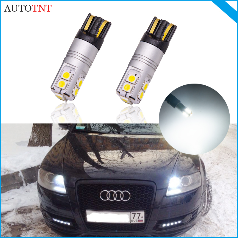 2pcs T10 led w5w 194 168 bulb light lamp canbus no error for Audi A5 Cabriolet Sportback A6 C4 C5 C6 C7 Avant A8 4H 4E 4D Coupe image