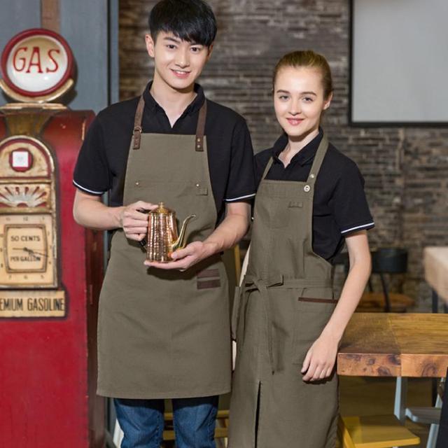 Мужчины и женщины кафе Пиза ресторан хлеб магазин спецодежды женщин и мужчин стенд шеи рубашки поло бесплатная доставка униформа