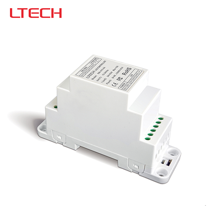 ФОТО DIN-413-5A DIN-Rail LED Dimming Driver,DC12V-24V input;5A*3CH MAX 15A output