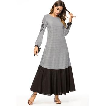 78a80e0e22 2019 Abaya Kaftan el Islam punto Hijab musulmán vestido Jilbab Omán Qatar  Emiratos Árabes Unidos traje Dubai caftán Abayas para las mujeres turco  Islámica ...