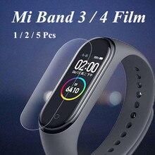 Miバンド4 3スクリーンフィルム保護フィルムプロテクター5個2個1pc xiaomi miバンド4 3アンチスクラッチmi band4ブレスレットmiband 4