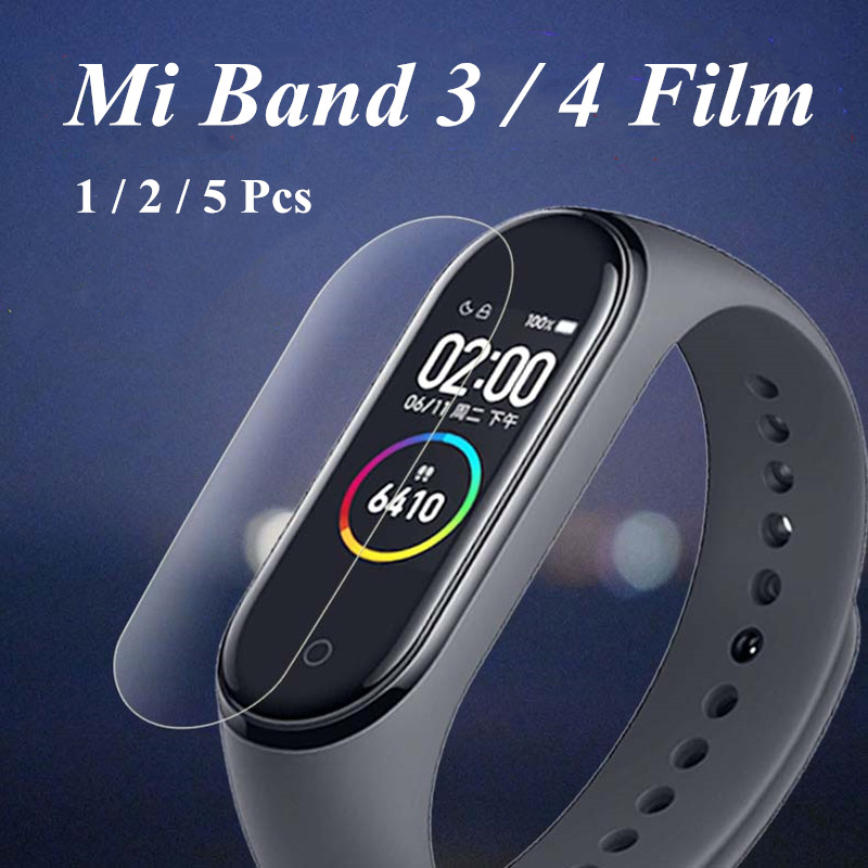 Mi Band 4 3 Screen Film Protective Film Protector 5pcs 2pcs 1pc For Xiaomi Mi Band 4 3 Anti Scratch Mi Band4 Bracelet Miband 4