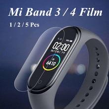 Mi bande 4 3 Film décran Film protecteur 5 pièces 2 pièces 1pc pour Xiaomi Mi bande 4 3 anti rayures Mi band4 Bracelet Miband 4