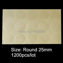 1200pcs 25mm round / 1 inch circular blank transparent seal sticker clear pvc label without any logo printing