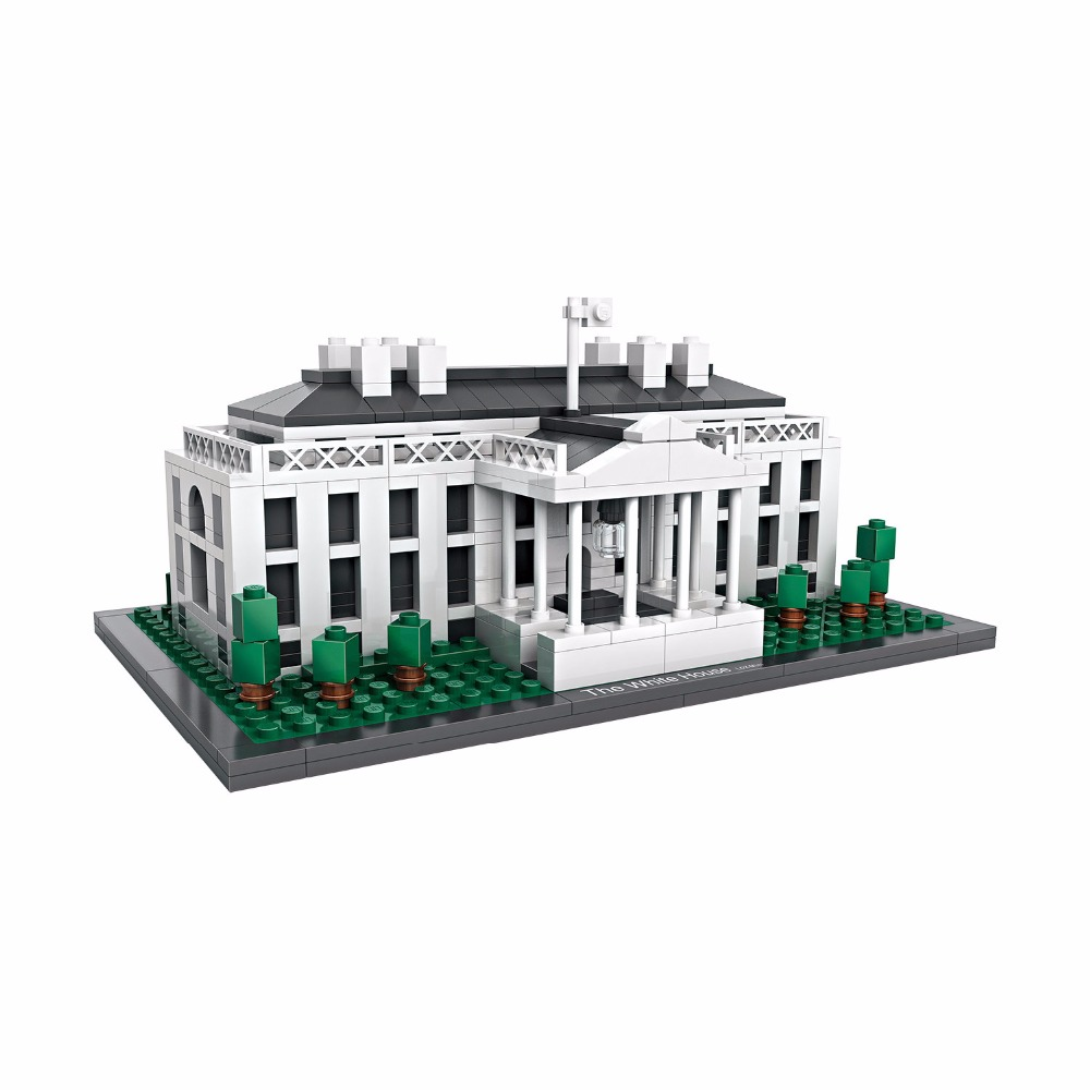2018 Presidential Palace of USA White House Washington America Nanoblock Mini Diamond Building Block World Famous Architecture loz mini diamond building block world famous architecture nanoblock easter island moai portrait stone model educational toys