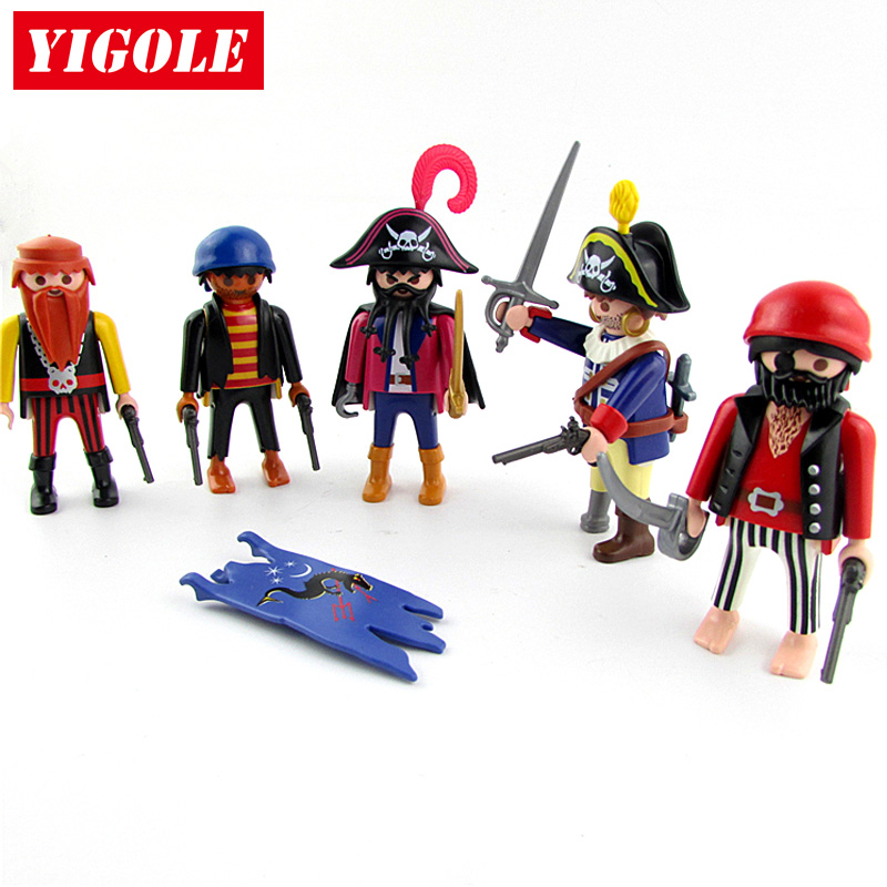 Original Playmobil Figure Pirate Captain Action Figures Kids Best Toys Gift 12pcs set children kids toys gift mini figures toys little pet animal cat dog lps action figures