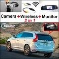 3 in1 Especial de Visión Trasera Wifi Cámara + Receptor Inalámbrico + Sistema de Aparcamiento Monitor del espejo DIY Fácil Animarse Para Volvo XC60