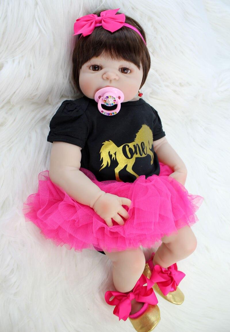 NPKCOLLECTION 22 Full Silicone Newborn Baby Girl Realistic Reborn Doll Baby Princess Toys Waterproof Lovely Bebe Boneca Alive