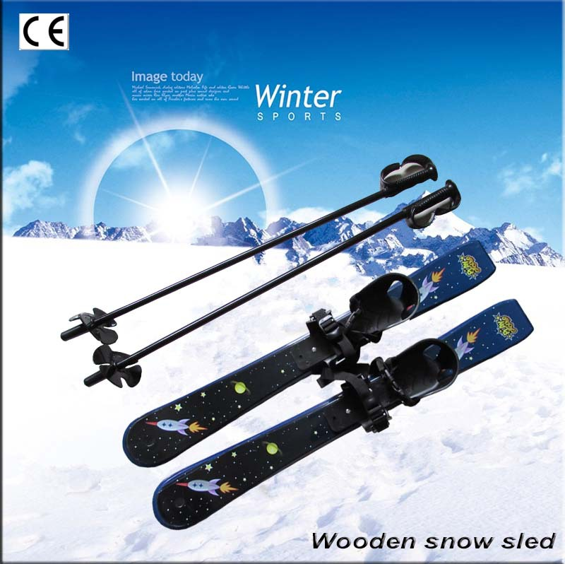 Skiboards Plastic Sleeves Children's Skiing Products Sandboards With 2 Ski Poles