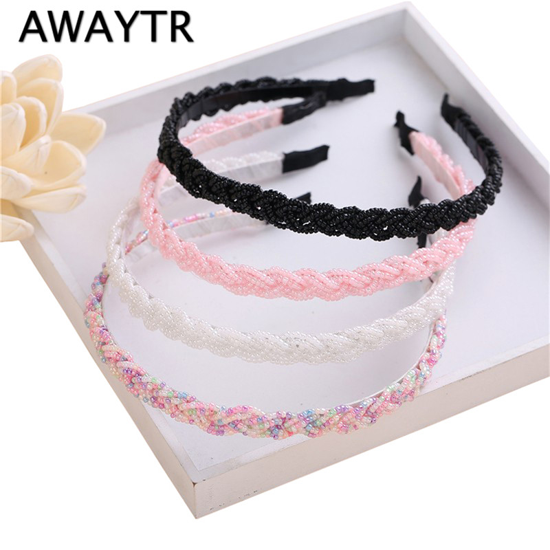 Pearl Headband Girl 2019 Fashion Elegant Kids Girl Pearl Headbands with Rhinestone Hair bands Children   Headwear   Hair Accessories