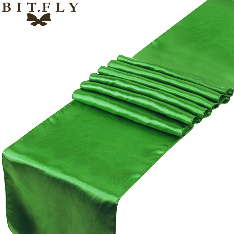 Top Ing Elegant Banquet Table Ribbon Bows Clover Green Color Wedding Decoration 12 X