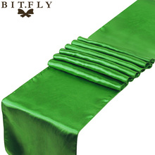 Clover green 1 Sheer Satin Table Runners 12 x 108 Wedding Party new brand+free shipping