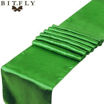 Top Selling Elegant Banquet table ribbon bows Clover green Color Romantic Wedding decoration 12 x 108