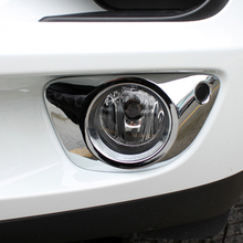 Free Shipping High Quality ABS Chrome Front Fog lamps cover Trim Fog lamp shade Trim For Porsche macan стоимость