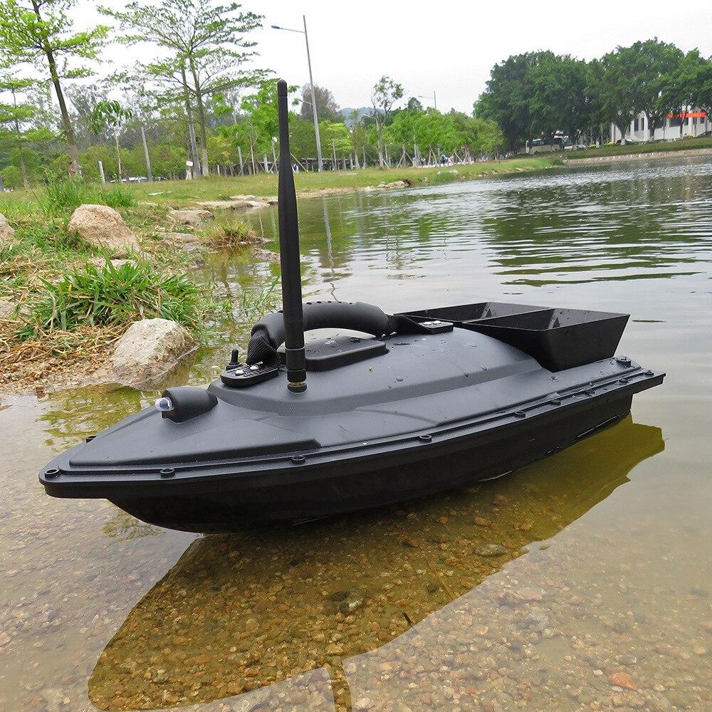 Flytec 2011-5 herramienta de pesca inteligente RC Barco de cebo de juguete de Motor Dual buscador de peces Barco de Control remoto barco bote