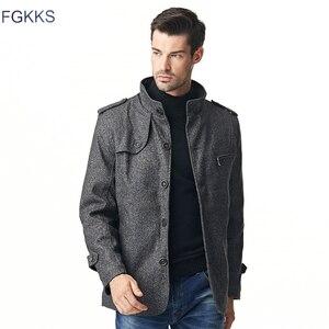 Image 5 - Мужская повседневная куртка FGKKS, ветровка с воротником стойкой, 2019