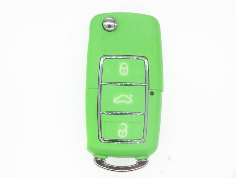 Verde Color de Repuesto refit Fob hoja sin cortar remoto Caso de shell clave par