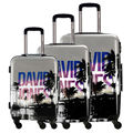 "DAVIDJONES  3 Piece Spinner Luggage Set Carry-on 20"", 24"", 28"" ABS+PC Universal WHEEL Trolley Drag Boxes Hard Shell Boarding BOX"