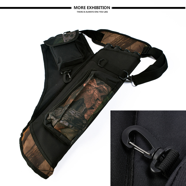 Archery Quiver Waterproof Camouflage Arrows Holder Bag 4 Tubes Arrow Quiver for Recurve Bow Hunting Shooting Archery Accessories 3