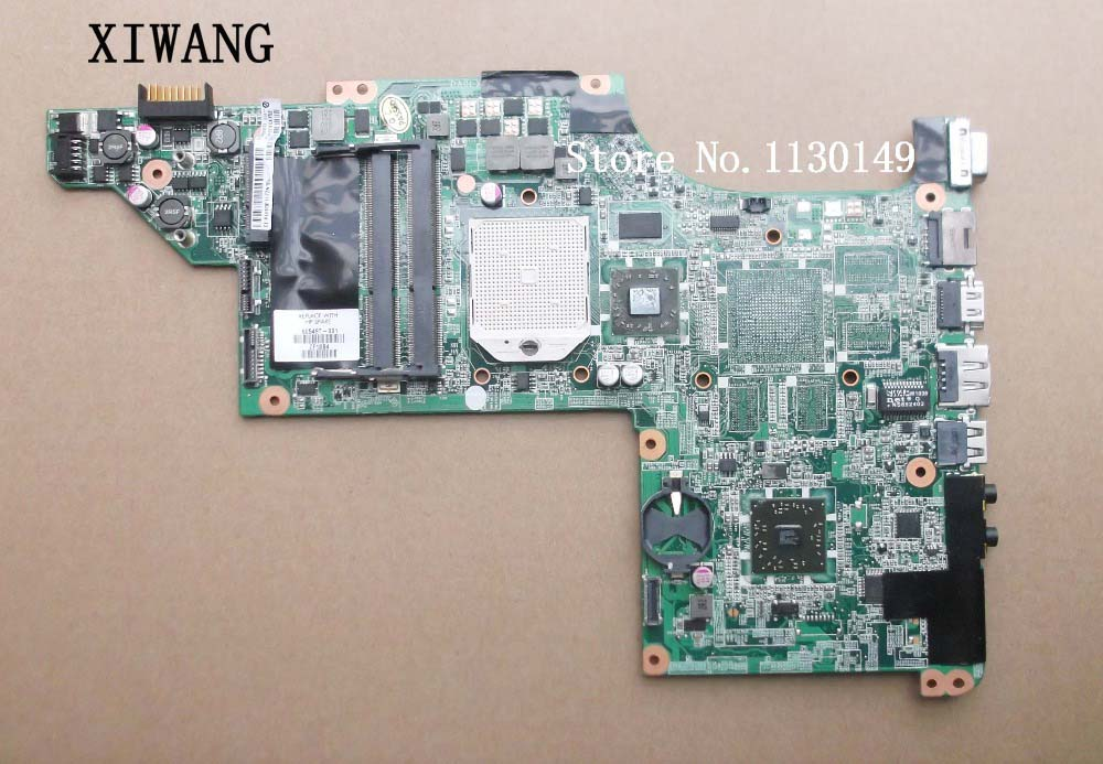 Free Shipping laptop Motherboard for hp DV7 DV7-4000 605496-001 Motherboard DAOLX8MB6D1 notebook mainboard wholesale da0lx8mb6e1 motherboard for hp dv7 4000 605497 001 100% work perfect