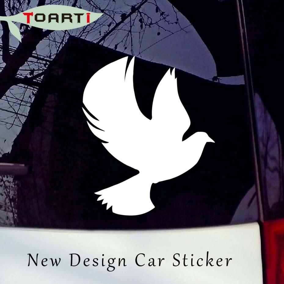Duif met gespreide vleugels decal vogel auto stickers raam deur vinyl zelfklevende decals voor auto decoratie dier auto styling in duif met gespreide