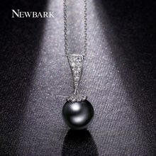 NEWBARK Round Necklace Imitation Pearl Necklaces & Pendants Unique Jewelry For Women Sparkling Collier Best Friend Gift Bijoux