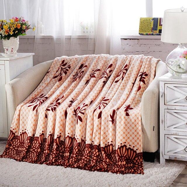feuilles couverture 120x200 cm haute densite super doux flanelle lit pour canape lit feuille