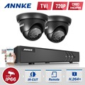 ANNKE 4CH 1080N TVI 5in1 DVR 1500TVL 720P CCTV Video Outdoor Security Camera System Dome type Surveillance kit