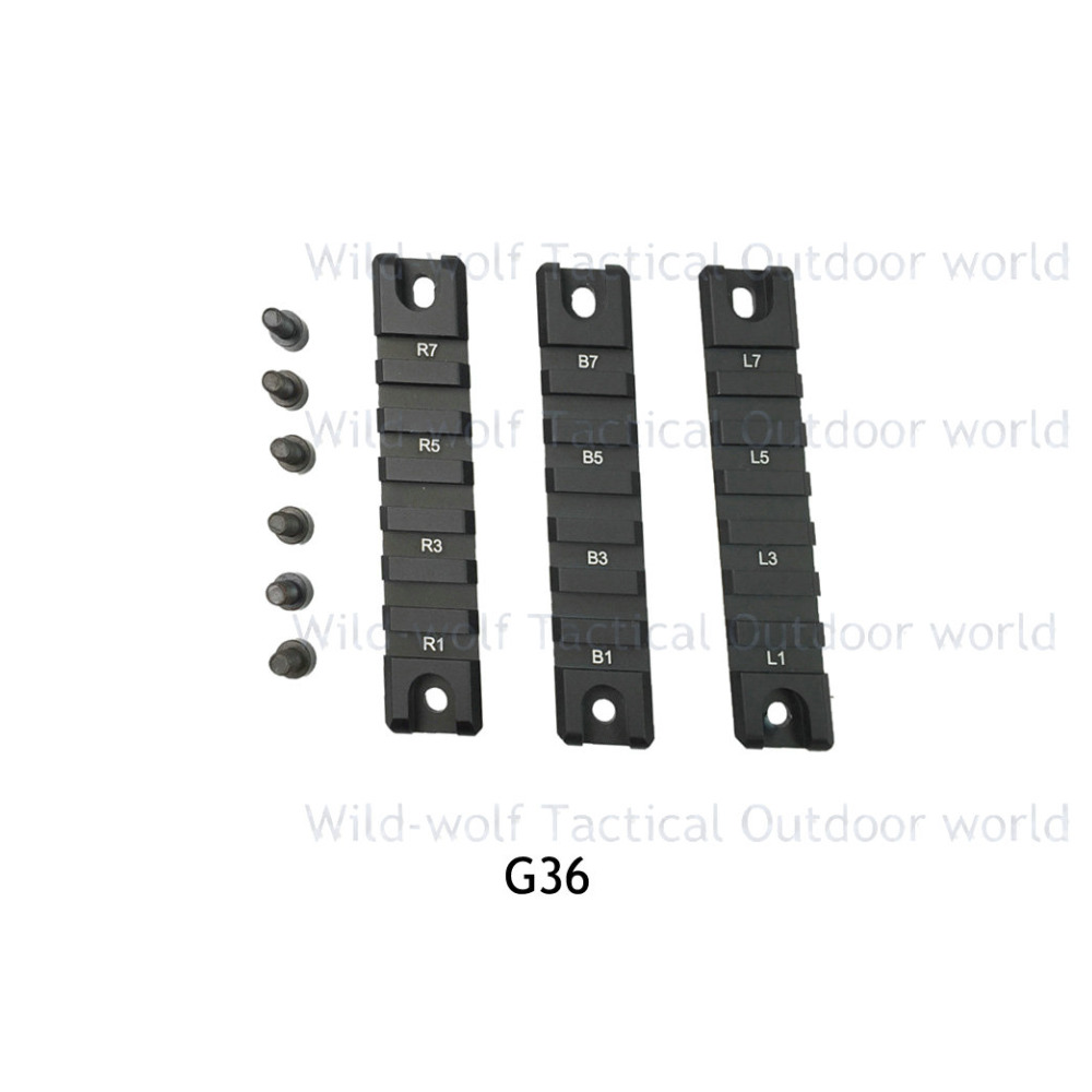 3pcs Tactical Short Gun Rail For Hunting Rifles G36 G36k G36 Scope Mounts 20mm Extensible Scope Bases Side Rail Mount G36c-3 Good Heat Preservation