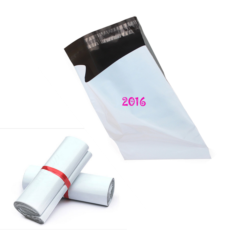 Top Quality 20X35Cm White Color 20pcs/lot Poly Self Adhesive Mailing Bags Plastic Courier Poly Plastic Bags Express Mail Bag