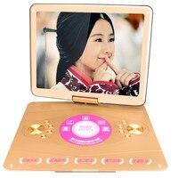 HD LED Screen 22 inch+Super Slim+TV+Game+Built in Battery Home Portable Moving DVD/EVD Player 3D Disc Video machine Speaker TV