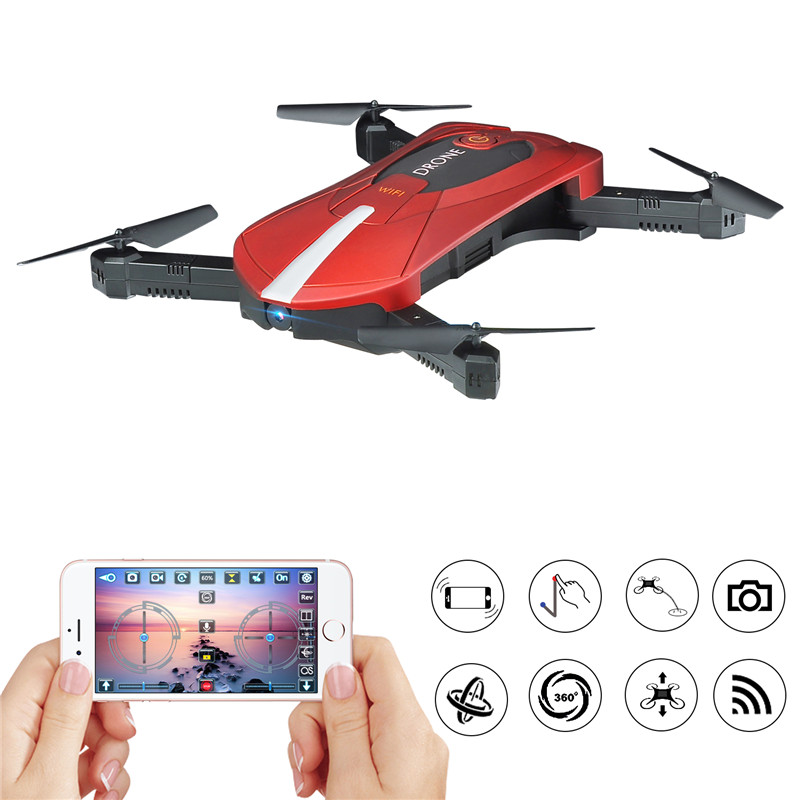 JD-018 mini 20 WiFi FPV Selfie RC Drone With High Hold Mode Foldable Arm RC Quadcopter RTF RC Helicopter with Remote Controller