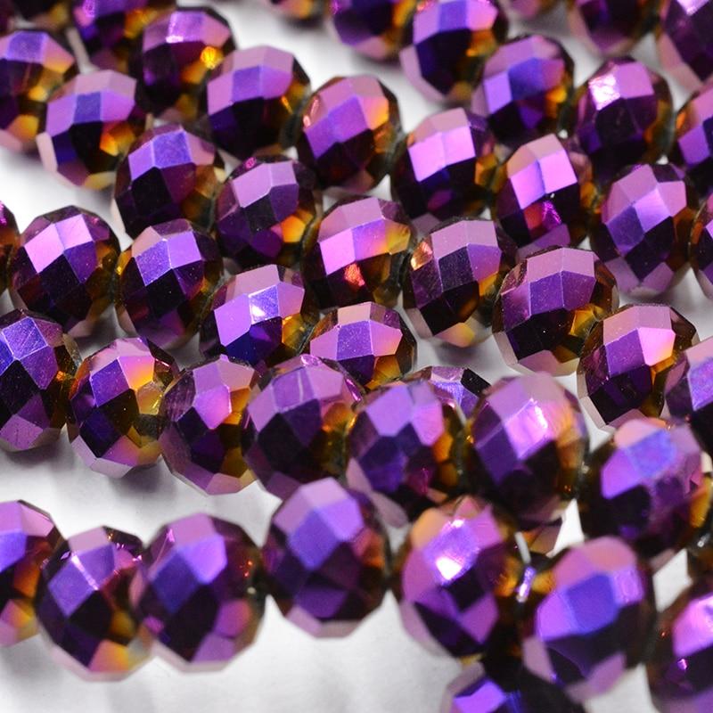 FLTMRH Сияющие фиолетовые 3*4 мм 140 шт Австрийские граненые Хрустальные стеклянные бусины для изготовления ювелирных изделий - Цвет: 097