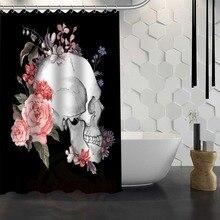 Unique Personal Design Skull Shower Curtain Pattern Customized Shower Curtain Bathroom Fabric For Bathroom Decor Hsq326032fr