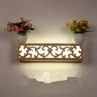 Lámpara de pared led nórdica de madera  lámpara de noche  luces de pared  decoración minimalista moderna para dormitorio  lámpara de iluminación  troncos  luz de pasillo ZA8242| | |  -