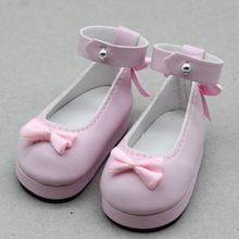 1Pair Butterfly Design PU Leather Shoes For 1/4 BJD SD Doll Shoes As for 45cm Xinyi Doll Shoes 6cm Toy Doll Shoes цена и фото