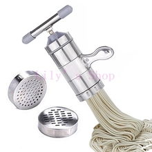 Manual noddles pasta maker stainless steel noodle pressing making machines Spaghetti pasta cutter Home kitchen cooking tools