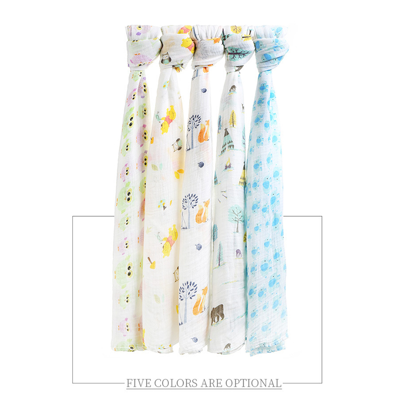 Muslin 70% Bamboo 30% Cotton Baby Blankets Swaddling Swaddle for Newborn Bath Towel Bedding Blanket Baby