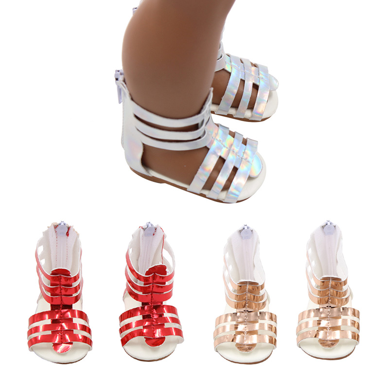 Doll Shoes for 18 inch Doll Mini Doll Fashion red sandals Fits For 43 cm Baby <font><b>New</b></font> <font><b>Born</b></font> Sport Shoes <font><b>Toy</b></font> Boots Doll Accessories image