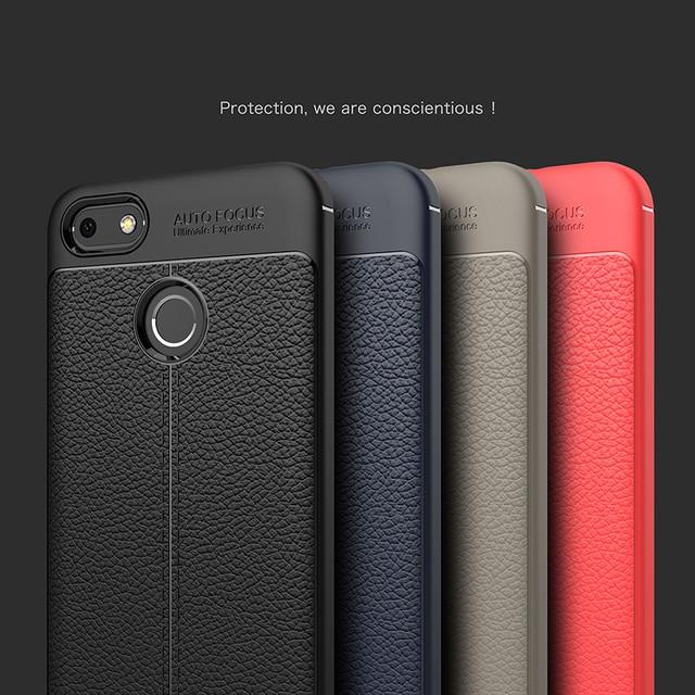 best website 037aa d5f13 € 3.63 |Pour Huawei P9 Lite Mini Cas 5.0 pouce De Luxe Antichoc Souple TPU  En Cuir Cas Pour Huawei Y6 Pro 2017 P9 Lite Mini cas dans Demi-enveloppé ...