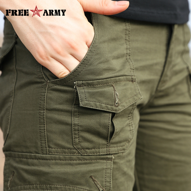 Autumn Brand Women's Pants Army Green Pockets Pants Straight Casual Female Trousers Ladies Pants Plus Size Women's Clothing