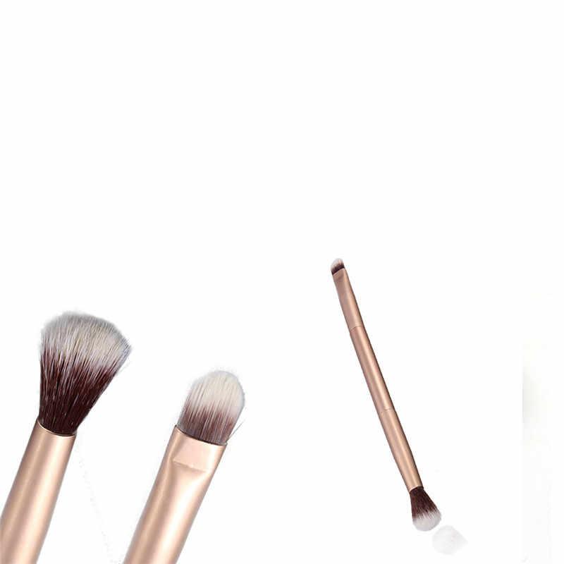 1 pièces double tête maquillage brosse fard à paupières sourcils cils brosse Nylon cheveux professionnel maquillage brosse cosmétiques outil T01445