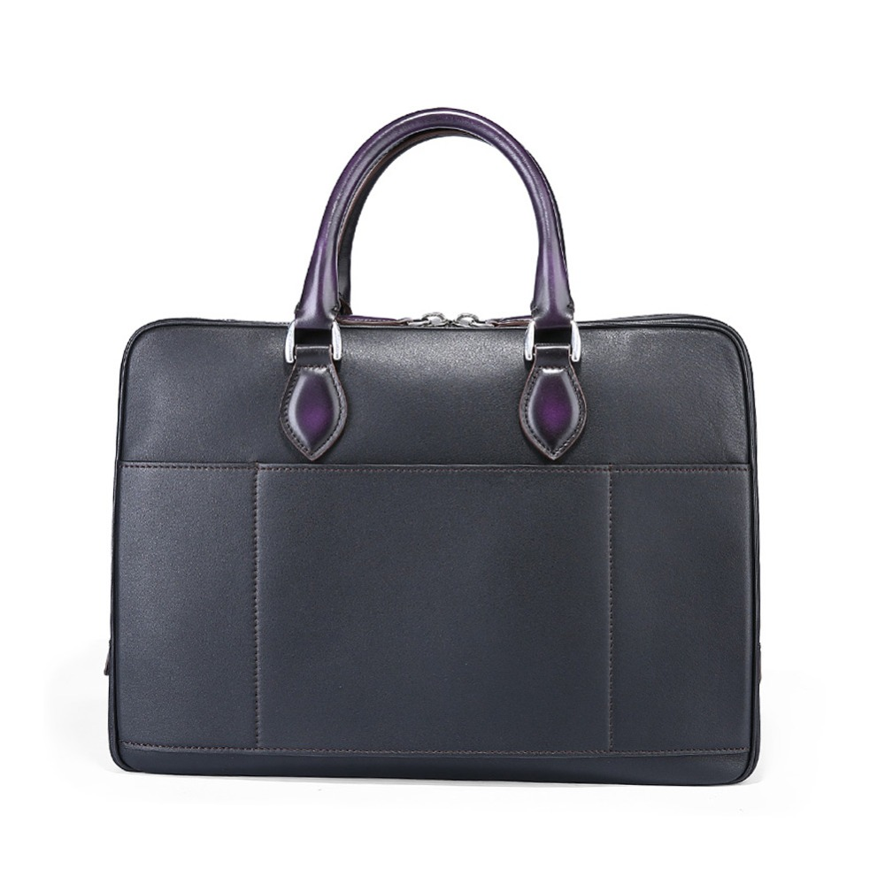 TERSE_Travel briefcase mens leather handmade tote bag in genuine leather fashion luxury handbag laptop bag custom service