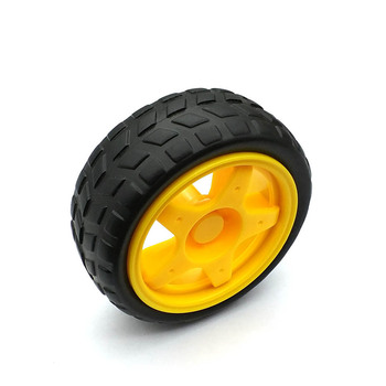 1 par 2 uds ruedas de soporte chasis/neumático/ruedas de coche robot diámetro 65MM grosor 28MM DIY