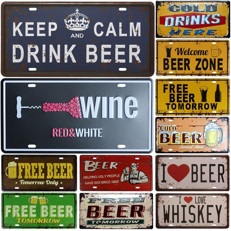 Nieuwe Voorraad! Metalen Deco Platen Plaat Auto Kentekens Bar Pub Cafe Home Decor Metalen Teken Garage Plaques  1