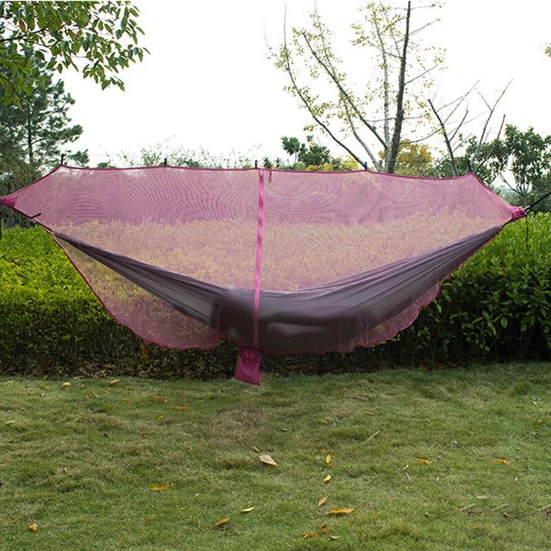 Portable Double personne hamac moustiquaire pour Camping jardin chasse voyage TB vente