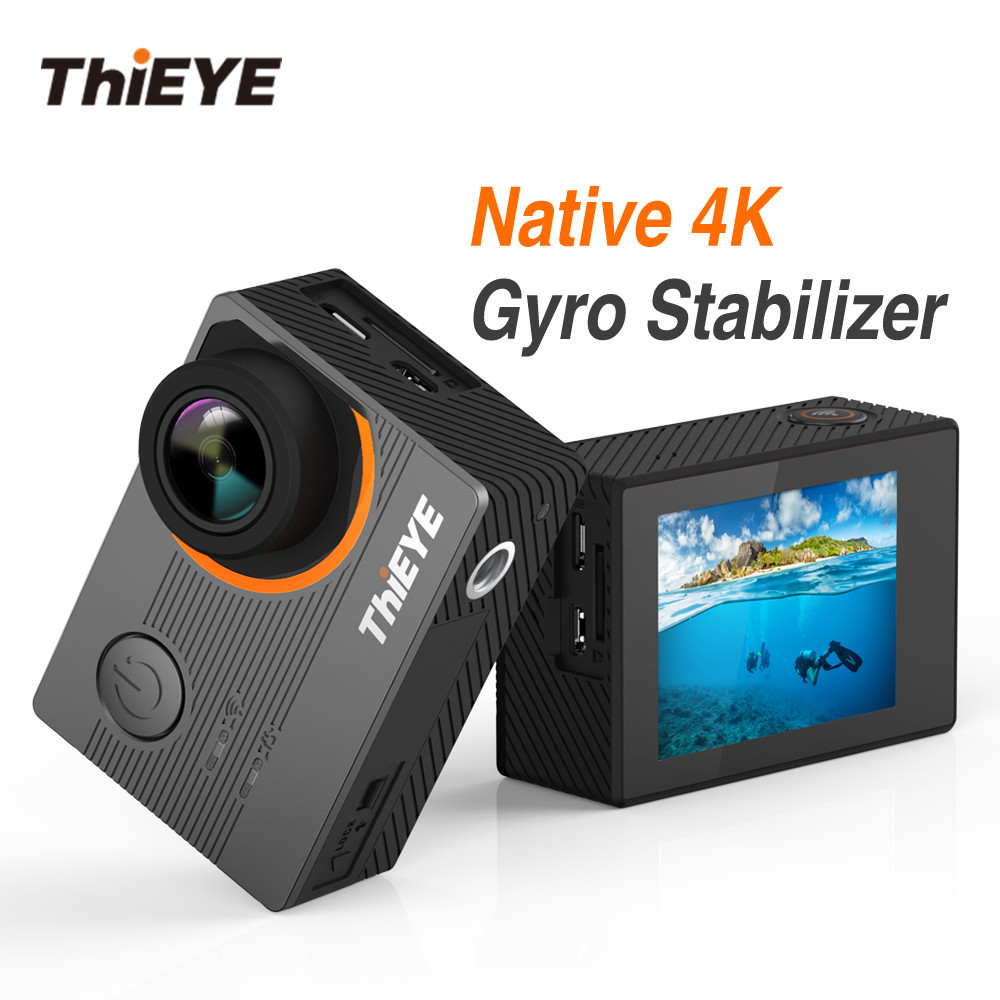 ThiEYE E7 Real 4K WiFi Action Camera Waterproof Diving Remote Control Sport Cam Distortion Correction Anti-Shake Video Camera thieye t5e wifi 4k action camera black