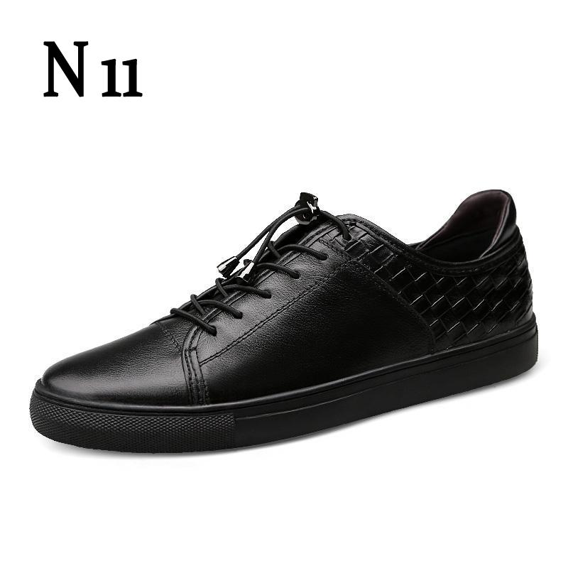 N11 Mens Shoes 2017 New Men Genuine Leather Casual Shoes Breathable Men Flats Shoes Luxury Brand Male Shoes Footwear Men Shose cbjsho brand men shoes 2017 new genuine leather moccasins comfortable men loafers luxury men s flats men casual shoes